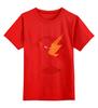 """Детская футболка классическая унисекс """"flash"""" - flash, молния, флэш, dc комикс"""