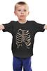 "Детская футболка классическая унисекс ""Рёбра"" - скелет, кости, рёбра"