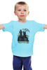 """Детская футболка классическая унисекс """"Cкотчи на скамейке"""" - dog, собаки, скотч-терьер, скотч, scottish terrier, шотландский терьер"""