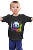 """Детская футболка классическая унисекс """"Панда Космонавт"""" - панда, космос, абстракция, астронавт, космонавт"""