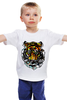 "Детская футболка ""морда тигра"" - хищник, tiger, тигр"