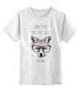 """Детская футболка классическая унисекс """"Лиса в очках"""" - очки, fox, лиса"""