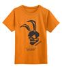 """Детская футболка классическая унисекс """"Заяц"""" - скелет, зайц"""