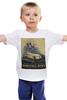 "Детская футболка ""ретро постер"" - машина, мерседес, постер, mersedes, ретро автомобиль"