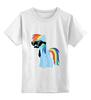 """Детская футболка классическая унисекс """"My Little Pony - Rainbow Dash (Радуга)"""" - радуга, pony, rainbow dash, mlp, пони"""