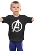 "Детская футболка классическая унисекс ""Мстители (The Avengers)"" - hulk, marvel, мстители, железный человек, iron man, халк, the avengers"