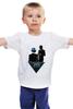 """Детская футболка классическая унисекс """"Daft punk            """" - daft punk, футуризм, маски"""
