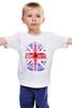 """Детская футболка классическая унисекс """"Skull Art"""" - skull, череп, uk, british flag, британский флаг"""