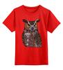 """Детская футболка классическая унисекс """"Филин"""" - птицы, сова, узоры, филин, owl"""