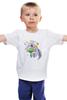 """Детская футболка классическая унисекс """"Праздничный муравьед"""" - цветы, животные, 8 марта, маме, муравьед"""