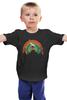 """Детская футболка классическая унисекс """"Олень"""" - животные, радуга, олень"""