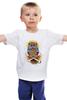 """Детская футболка классическая унисекс """"Mysterious Owl"""" - кости, сова, owl, мистическая сова"""