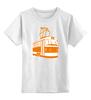 """Детская футболка классическая унисекс """"Трамвай """" - прикол, арт, orange, city, tram"""