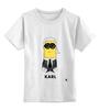 "Детская футболка классическая унисекс ""Karlito"" - fashion, karl, minion, карл лагерфельд, karlito"