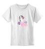 """Детская футболка классическая унисекс """"В пионах"""" - цветы, лицо, розовый, люди, портреты"""