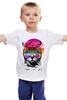 """Детская футболка классическая унисекс """"Пляжный Кот"""" - кот, лето, солнце, cat, пляж"""