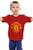 """Детская футболка классическая унисекс """"Manchester United"""" - football, uk, манчестер юнайтед, футбольный клуб"""