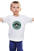 "Детская футболка ""Scrooge McBucks (Starbucks)"" - пародия, coffee, старбакс, макдак, скрудж"