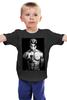 "Детская футболка ""2Pac & The Gun t"" - rap, hip-hop, черная, 2pac, tupac shakur, outlawz, shakur, thug life"