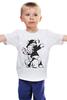 "Детская футболка классическая унисекс ""Ma little banksy"" - арт, граффити, pony, mlp, banksy, graffiti, street art, бэнкси"