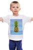 """Детская футболка """"Ананасовая тельняшка"""" - лето, ананас, pineapple, тельняшка"""