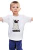 """Детская футболка классическая унисекс """"Пугминатор"""" - pug, собаки, терминатор, мопс, the terminator"""
