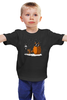 """Детская футболка классическая унисекс """"Зимний Вечер"""" - зима, снег, аниме, totoro, мой сосед тоторо"""