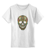 """Детская футболка классическая унисекс """"Череп"""" - skull, череп, узор, паттерн, символ, дудл"""