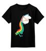 """Детская футболка классическая унисекс """"Единорог"""" - радуга, пони, rainbow, единорог"""