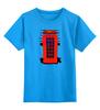 """Детская футболка классическая унисекс """"London Phone Booth"""" - london, лондон, fashion, phone booth, телефонная будка"""