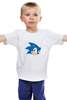 "Детская футболка ""Sonic hedgehog head"" - nintendo, sonic, sega, сега, соник ёж, ёжик соник, video games"
