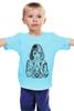 "Детская футболка классическая унисекс ""tattoo girl"" - black and white, girl, tatto, artwork"