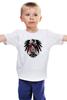 """Детская футболка классическая унисекс """"World School Of Rock"""" - skull, череп, rock, орёл, eagle"""