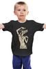 """Детская футболка """"Девушка с черепом оленя"""" - skull, череп, арт, девушка, animal, deer"""