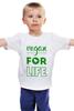 """Детская футболка """"Vegan for life"""" - веган, vegan"""