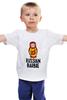 """Детская футболка классическая унисекс """"матрёшка"""" - россия, матрёшка, барби, русская барби"""
