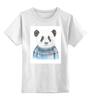 """Детская футболка классическая унисекс """"Панда"""" - панда, panda"""