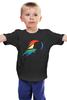 """Детская футболка классическая унисекс """"Rainbow Dash Black"""" - pony, rainbow dash, mlp, my little pony, пони, brony, мой маленький пони, брони"""