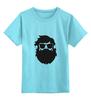 "Детская футболка классическая унисекс ""Borodachi Black"" - борода, усы, beard, бородачи, отпускаем бороду, усачи, borodachi, mustaches, beard in city, beard in moscow"