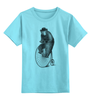 """Детская футболка классическая унисекс """"Медведь на велосипеде"""" - арт, велосипед, медведь, bear"""