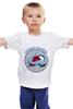 """Детская футболка классическая унисекс """"Колорадо Эвеланш"""" - хоккей, nhl, нхл, колорадо эвеланш, colorado avalanche"""