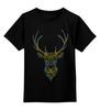 """Детская футболка классическая унисекс """"Олень"""" - узор, олень, рога, deer"""