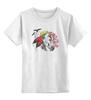 """Детская футболка классическая унисекс """"Хранитель природы"""" - арт, лошадь, рисунок, свобода, оберег, этническое, индейские мотивы, анималистическое, славянское, кельтский крест"""