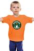 """Детская футболка классическая унисекс """"Mordor Coffee"""" - властелин колец, lord of the rings, старбакс, фродо, мордор"""