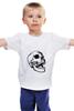"""Детская футболка классическая унисекс """"Белая толстовка с черепом."""" - skull"""