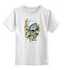 """Детская футболка классическая унисекс """"Per aspera ad astra"""" - арт, space, космос, fox, лиса"""