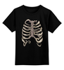"Детская футболка классическая унисекс ""Рёбра"" - кости, рёбра, скелет"