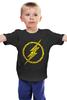 """Детская футболка классическая унисекс """"Флэш (The Flash)"""" - flash, молния, флеш, dc"""