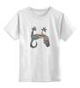 """Детская футболка классическая унисекс """"Яркий геккон"""" - ауди, геккон, ярко"""