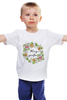 """Детская футболка классическая унисекс """"Несу добро"""" - цветы, надпись, добро, несу добро"""